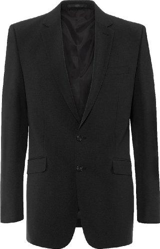 GREIFF Herren-Sakko Anzug-Jacke Premium Regular fit - Style 1116 Farbe: Schwarz Größe: 25