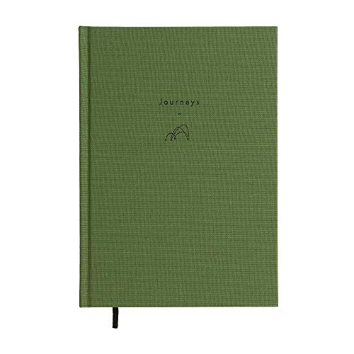 Die Schule des Lebens - Schreiben als Therapie - Tagebuch Reisen - Notizbuch aus Leinen für Reisen