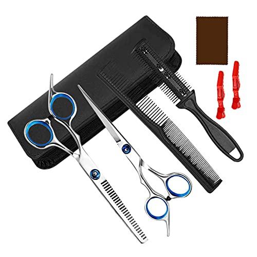 Juego de tijeras de peluquería, 8 unidades, tijeras profesionales de peluquería, tijeras de peluquería perfectas, tijeras de peluquería, corte de pelo, moldeado, cuidado para peluqueros, uso doméstico