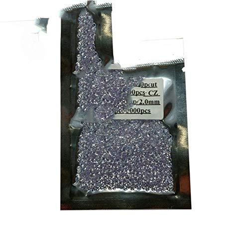 Preisvergleich Produktbild Unbekannt 1000 Stück / Los 0, 8~3, 0 mm 5A Qualität Lose CZ Stein Runde Brillantschliff Zirkonia Synthetische Edelsteine Für Schmuck,  Lavendel,  1, 0 mm (1000 Stück)