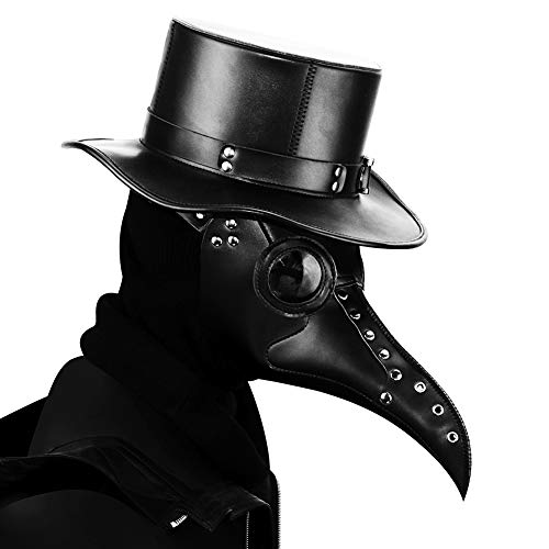 YOUTHUNION Steampunk Plague Doctor Bird Mask Long Nose Beak Cosplay Halloween Christmas Costume Props (Style 7) steampunk buy now online