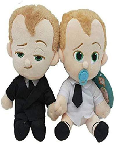 Juguetes de peluche 2 unidades/set de 18 cm lindo dibujos animados El jefe bebé juguetes de felpa nacido líder traje pañal jefe nueva película para niños cumpleaños