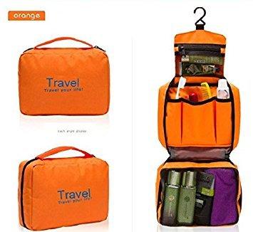 Exoh Portable Unisexe de luxe à suspendre Sac pliable Sac de maquillage Sac de randonnée Sac de sport (Orange)