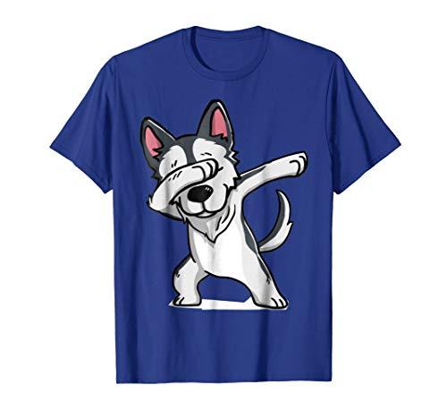 dabbing wolf Shirt - Cute Funny wolf Dab T-Shirt