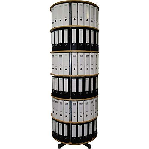 reef R2081BB6 Ordnersäule 81 cm durchmesser, 6 Etagen gesamtdrehbar, buche