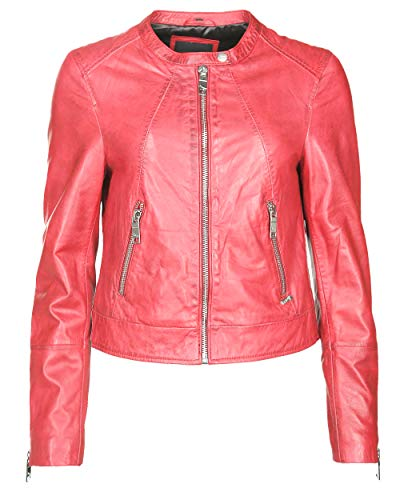 Maze Damen Bikerjacke Mit Coolen Zippern Grenada Red L