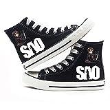 MAZF Zapatos de Lona Sword Art Online High Gang Unisex Zapatos Cordón Diarios de los Zapatos Transpirables Salvajes Zapatos de Lona Animado Impreso-41