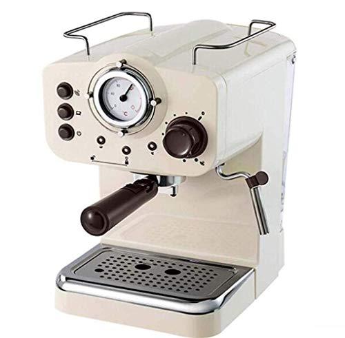 BDwantan Cafetera Máquina De Café Espresso Semiautomática Retro Máquina De Café Espresso Máquina De Café Espresso Retro Máquina De Café con Vapor Semiautomática Blanca