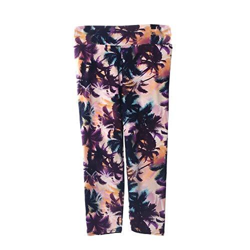 Frau Hosen elastischer Farbdruck, bequem atmungsaktiv Sport Casual Style oder alltäglichen vielseitigen geerntete Hose cool im Frühjahr und Sommer