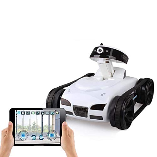 Izzya Ferngesteuertes Auto mit HD-Kamera, RC Panzer Roboter von APP-Steuerung können Echtzeitübertragung RC Spielzeuge für Kinder und Erwachsene