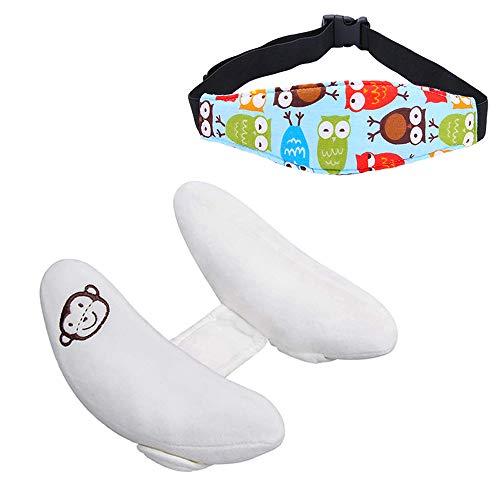 Kleinkind Verstellbare Nackenstützkissen & Safety Kopfstütze-Band-Autositz, Baby-Kind-Kleinkind-Kopf-Hals-Schutz, Blue Owl