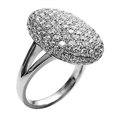 PPL- neue Ankunft twilight bella-Kristall-Ring Ehering Schmuck Valentinstag Geschenk , Silber , 6