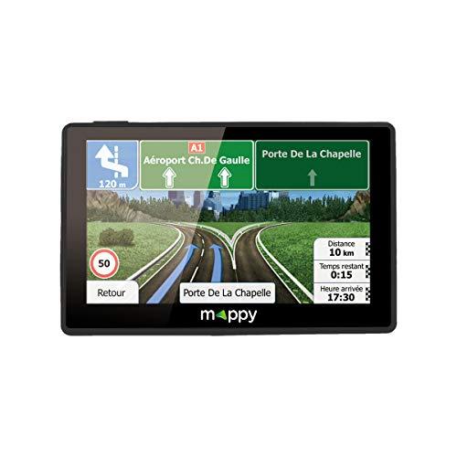 puissant Mappy GPS Ulti X585 (Écran: 5 pouces – 44 pays – mises à jour gratuites jusqu'à 4 fois par an) Noir