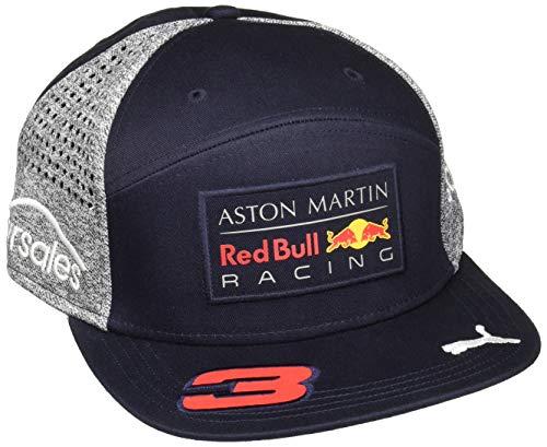 Red Bull Racing Flat Cap Gorra Plana de Red Bull Amr Ricciardo 2018, Unisex Adulto, Azul, Talla única