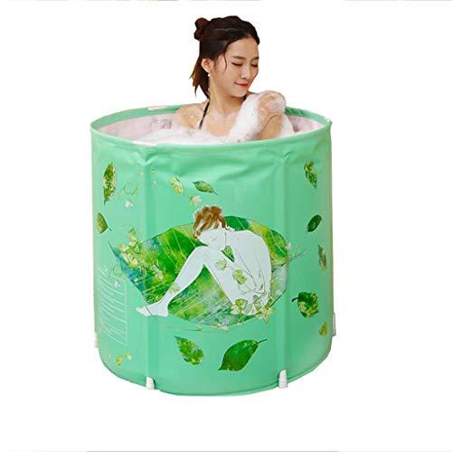 LittleBeauty Aufblasbare Badewanne Abnehmbare Badebottich zusammenklappbarer Isolierung Eindickung Badewanne Freistehende Badewanne Gesundheit Badeteich (Größe : D65*H70CM)