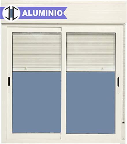 Ventana Aluminio Corredera Con Persiana PVC 1000 ancho ×
