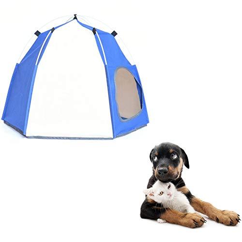 othulp Tienda de campaña para Perros Casitas para Gatos Tienda para Perros Pop Up Caseta de Perro al Aire Libre Perro Sombra de Sol Perro Tienda Cama Blue