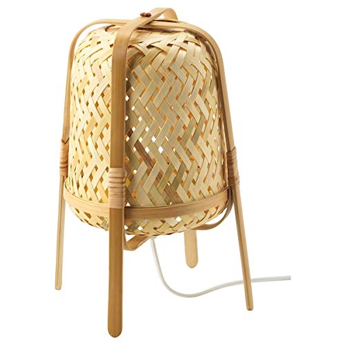 IKEA KNIXHULT - Lámpara de mesa de bambú, 37 cm, A++