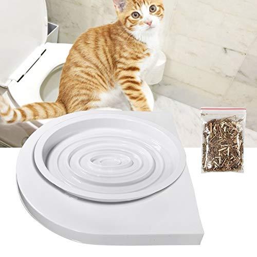 RHP Katzen WC-Sitz Toiletten Training System Katzentoilette Katzenklo Toilettensitz Trainingssystem zum eingewöhnen Ihrer Katze an das WC