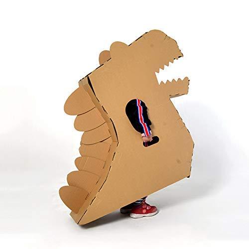 FSFF Casa de Juegos de cartón ive, casa de Juegos para Colorear de Dinosaurios, Hecha a Mano, Hecha a Mano, Modelo 3D para niños en Interiores, Regalo para niñas, StyleA