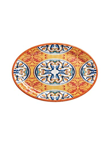 Brandani 53905 Bandeja ovalada naranja Medicea Melamina 30,5