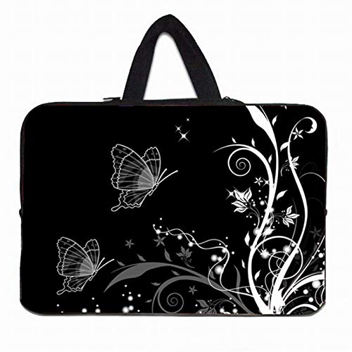 YNLRY Elegante bolsa de mano para portátil de 10 12 13 pulgadas 11.6 14 15 15.4 15.6 17 Funda Portatil Bolsas Neopreno Chromebook Case (Color: H024, tamaño: 13 pulgadas)