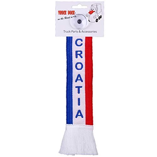 TRUCK DUCK® LKW Auto Minischal Croatia Kroatien Trucker Mini Schal Wimpel Flagge Fahne Saugnapf Spiegel Deko