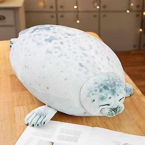 Makfacp La Almohada Suave del Animal Marino Osaka Seal Doll, Peluche, Almohada, Almohada, Regalo navideño