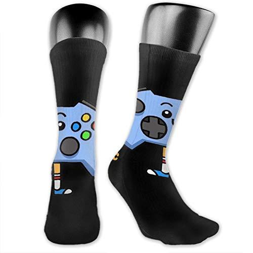 Control-Pad Unisex Fun Novelty Mid-Calf Boot Socks Fashion Breathable Dress Crew Socks