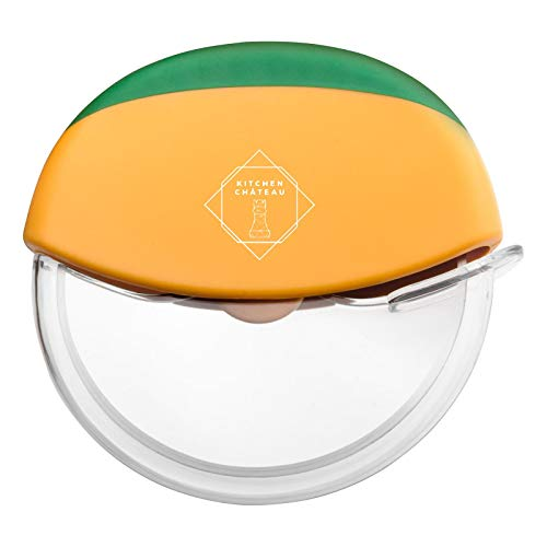 Kitchen Chateau Pizza Slicer Cutter Wheel - Super Sharp, Ergonomic Design, Easy To Clean Slicer, Kitchen Gadget with Protective Blade Guard Making The Perfect Pizza !
