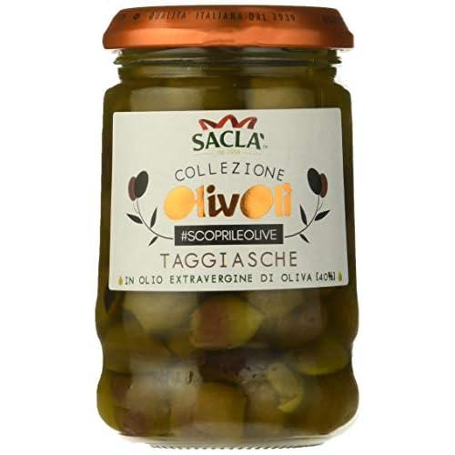 Saclà Olive Snocciolate Taggiasche in Olio - 12 Pezzi