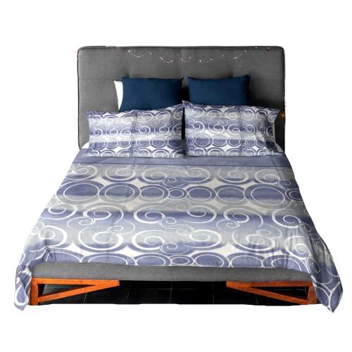 Namira Home, lenzuola matrimoniali cotone 100%, set lenzuola matrimoniale completo di copri materasso, lenzuolo e 2 federe (Marzo)