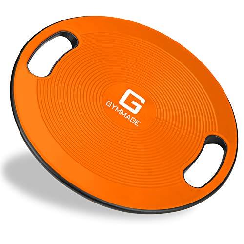 GYMMAGE バランスボード 体幹トレーニング 滑り止め ケガ防止 オレンジ 40cm