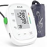[ 2021] Misuratore Pressione di AILE:Braccio Superiore Misuratore di Per Uso Domestico Kit Bracciale BP Misuratore di Rilevamento della Frequenza Del Polso, 2 × 99 Set di Memoria (Bianca)
