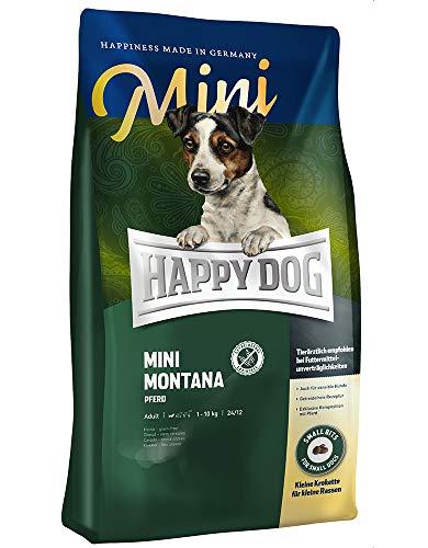 HAPPY DOG (ハッピードッグ) ミニ モンタナ (馬肉) アレルギーケア スキンケア 小型犬用 成犬〜シニア - グルテンフリー グレインフリー 無添加 ヒューマングレード ドイツ製 ドッグフード (300g)
