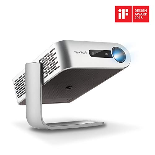 ViewSonic M1+ Portable Smart Wi-Fi Projector with Dual Harman Kardon Bluetooth Speakers HDMI USB Type C and Built-in Battery (M1PLUS)
