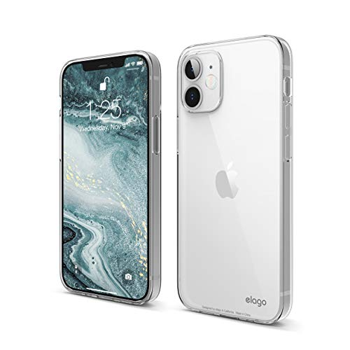 elago Clear Case Compatible with iPhone 12 Mini 5.4 inch, Shockproof Case, Scratch Resistant, Flexible, Screen & Camera Protection (Clear)