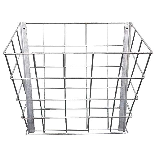 Rugged Ranch SGGBF Wall Mounted Rustproof Galvanized Steel Sheep, Goat, Horse, Rabbit, Guinea Pig, and Cow Livestock Hay Feeder Rack, Silver