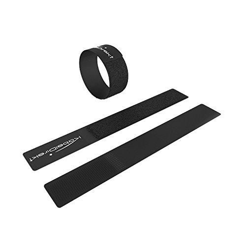 KabelDirekt - Klett Kabelbinder wiederverschließbar - 2cm x 16cm - (wiederverwendbar, 16 STK, schwarz)