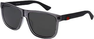 غوتشي GG0010S نظارة شمسية مربعة للرجال والنساء+مجموعة مجانية للعناية بالنظارات