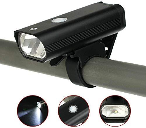 ZHUYU USB Wiederaufladbare Fahrradbeleuchtung, StVZO Zugelassen, Leistungsstarke 400 Lumen Scheinwerfer, LED Fahrradscheinwerfer Wasserdicht IP65, Nachtlichter Für Mountainbikes Rennradbeleuchtung