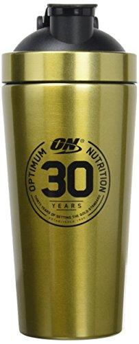 Optimum Nutrition - shaker in acciaio dorato