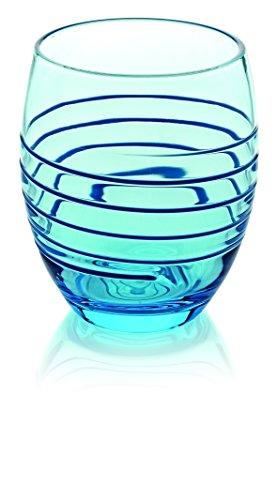 IVV Rings Set gobelet, 33 cl, 6 pièces, Verre, Bleu, 0.27 x 0.186 x 0.112 cm