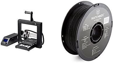 Monoprice 13860 Maker Select 3d Printer V2 and HATCHBOX 3D PLA-1KG1.75-BLK PLA 3D Printer Filament, Dimensional Accuracy +/- 0.05 mm, 1 kg Spool, 1.75 mm, Black bundle