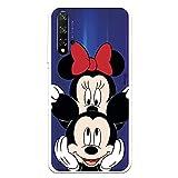 Funda para Huawei Honor 20 - Huawei Nova 5T Oficial de Clásicos Disney Mickey y Minnie asomado para Proteger tu móvil. Carcasa para Huawei con Licencia Oficial de Disney.
