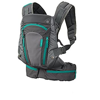 Infantino Carry On Carrier - Ergonomic Expandable face-in and face-Out Front and Back Carry for Newborns and Older Babies 8-40 lbs