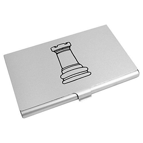Azeeda 'Turm Schachfigur' Visitenkarten-etui (CH00015110)
