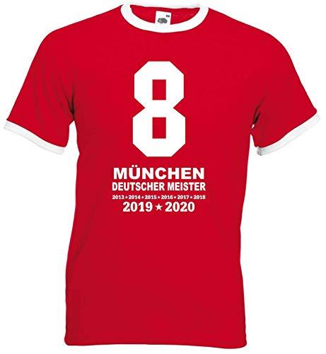 München Herren MIA SAN 8 Meister Ultras 2020 Retro-Shirt