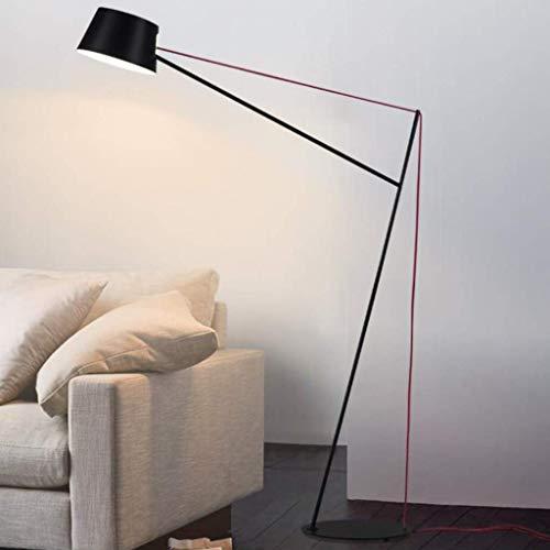 YXYOL Kreative Eisen Stehlampe, Wohnzimmer Schlafzimmer Sofa-Lesestehlampen, Nordic Minimalist Designer Sofa Angeln Lampe rotes Seil-Stehleuchte