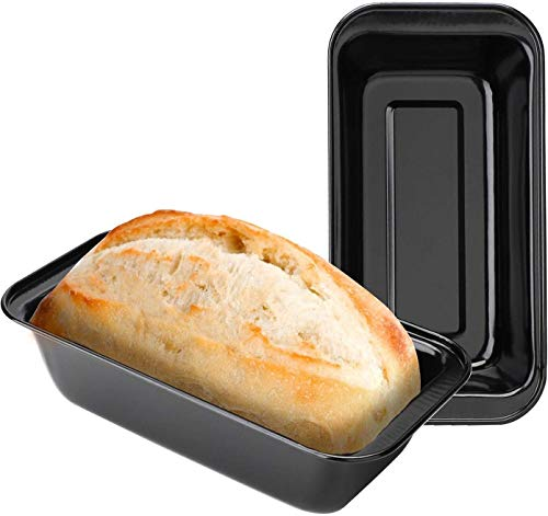 Set of two Nonstick Carbon Steel Bakeware Baking Bread Pan Bread Loaf Pan Meatloaf Pan Pullman Bread Pan Cake Pan Bread Mold